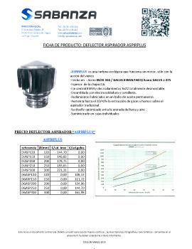 Ficha de producto: Deflector dinámico ASPIRPLUS