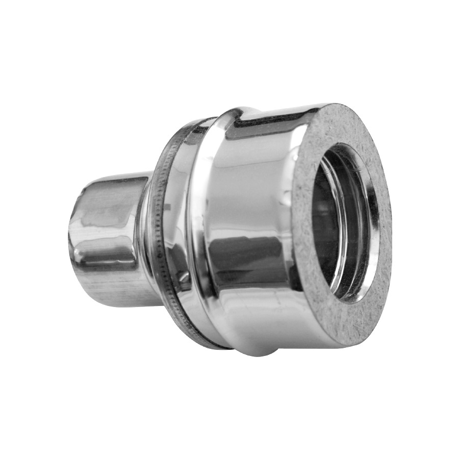 Adaptador Simple-Doble pared Doble Pared Inox-Inox A-304/A-304