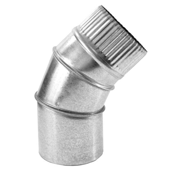 Codo a 45 Simple Pared Galvanizado Z-275 1mm