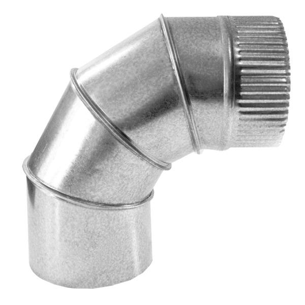 Codo a 90 Simple Pared Galvanizado Z-275 1mm