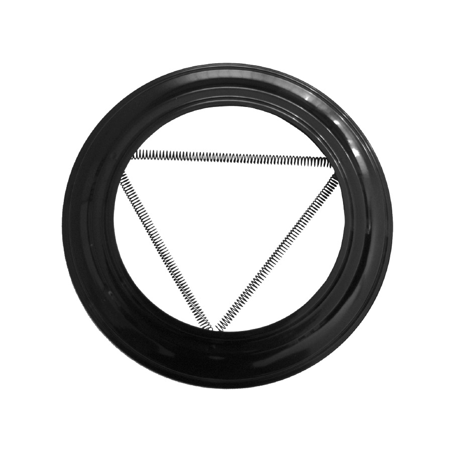 Plafón Simple Pared Vitrificado Negro Fonté 0,8mm