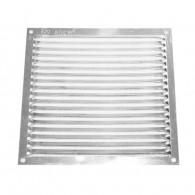 Flat aluminum grilles