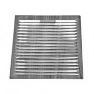 Recessed aluminum grille