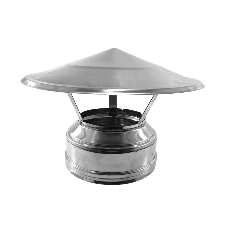 Salida Deflector Doble Pared Inox-Inox A-304/A-304