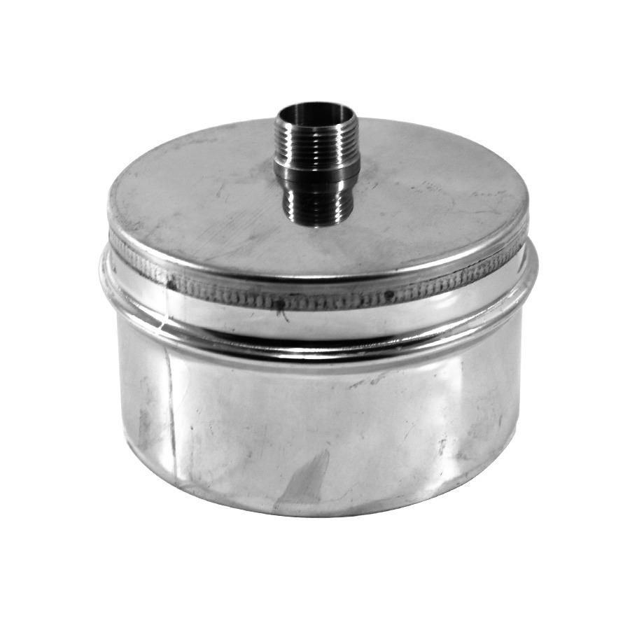 Tapa con Desagüe Doble Pared Inox-Inox A-304/A-304
