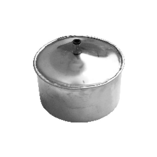 Tapa con Desagüe Simple Pared Inox A-304 MATE