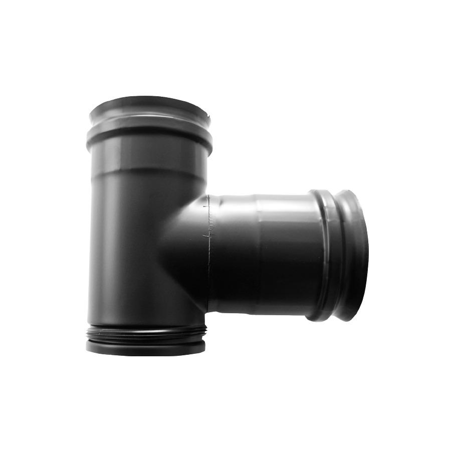 Te a 90 Simple Pared Vitrificado Negro Fonté 08mm