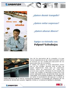 Ficha de producto: Polynet®Salvahojas