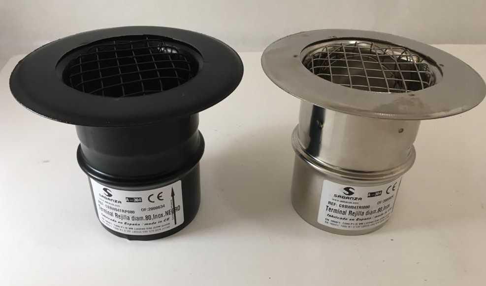 Nuevo Terminal Rejilla para canalización aire caliente estufas pellet