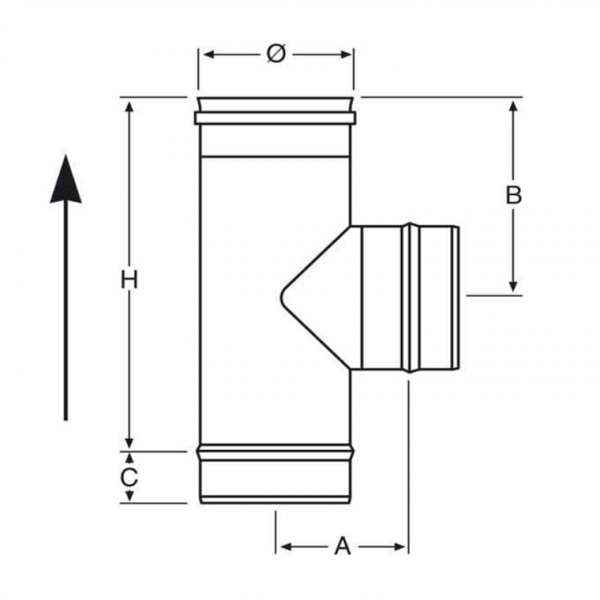 Croquis Te a 90 Simple Pared Inox A-304 MATE.png