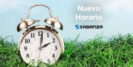 Horario de trabajo Sabanza primavera/verano 2019