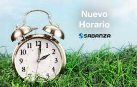 Sabanza establece horario de verano 2021