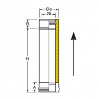 Module straight 500 mm