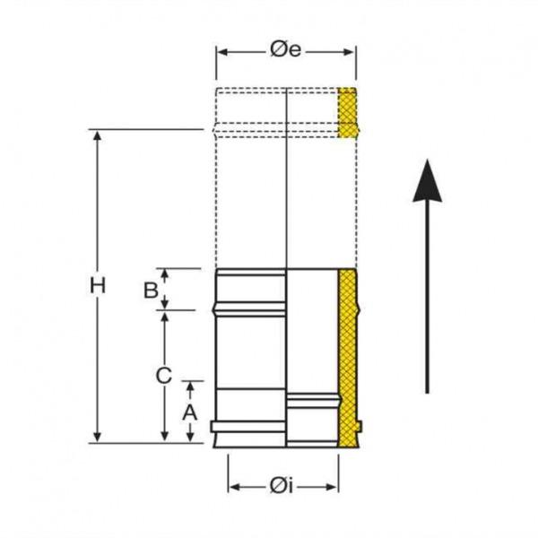 Croquis TMI Tubo Extensible 370-500