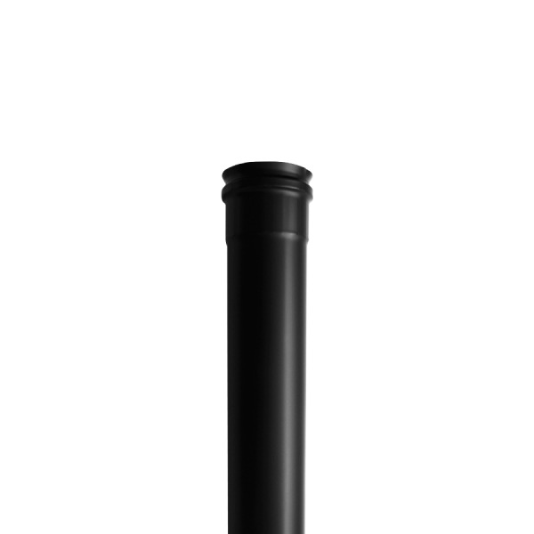 Tubo Simple Pared Negro 500 mm