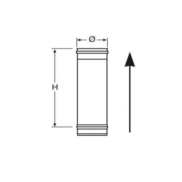 Tubo Simple Pared 250mm