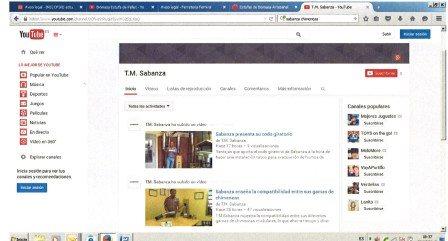 T.M. Sabanza abre canal en Youtube