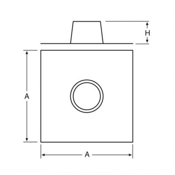Cubreaguas Doble Pared Inox-Galva A-304/Z-275