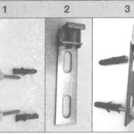 Support en aluminium radiateur électrique tuile fixation
