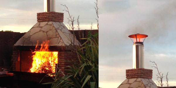 Caso 4: Barbacoa  en llamas por exceso de leña.